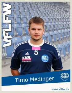 Sorgte mit seinem Last Minute Treffer für 3 Punkte, Timo Medinger